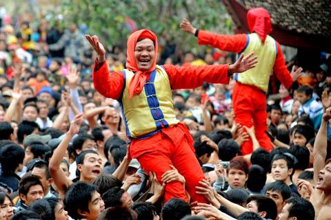 Hội rước pháo làng Đồng Kỵ - Nét đặc sắc vùng Kinh Bắc
